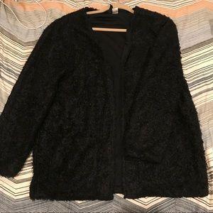 H&M Black Fuzzy Jacket